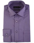 Men's Double TWO Satin Stripe 100 Cotton Formal