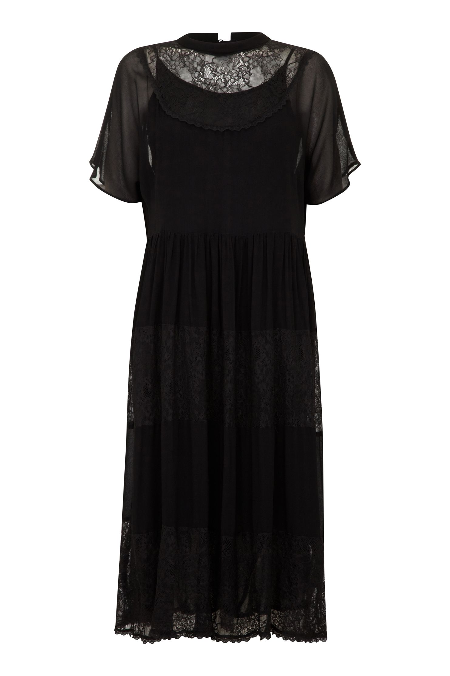 1940s Evening, Prom, Party, Cocktail Dresses & Ball Gowns Ghost Laura Dress Black £58.50 AT vintagedancer.com