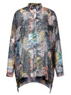 Tree Printed Oversized Shirt