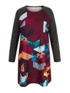 Owl Digital Print Tunic Dress