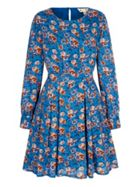 Pansy Print Tunic Dress