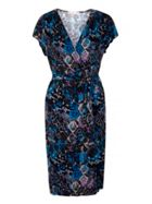 Uttam Boutique Snake Print Wrap Dress