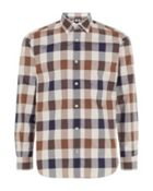 Men's Aquascutum Check Regular Fit Long Sleeve Shirt