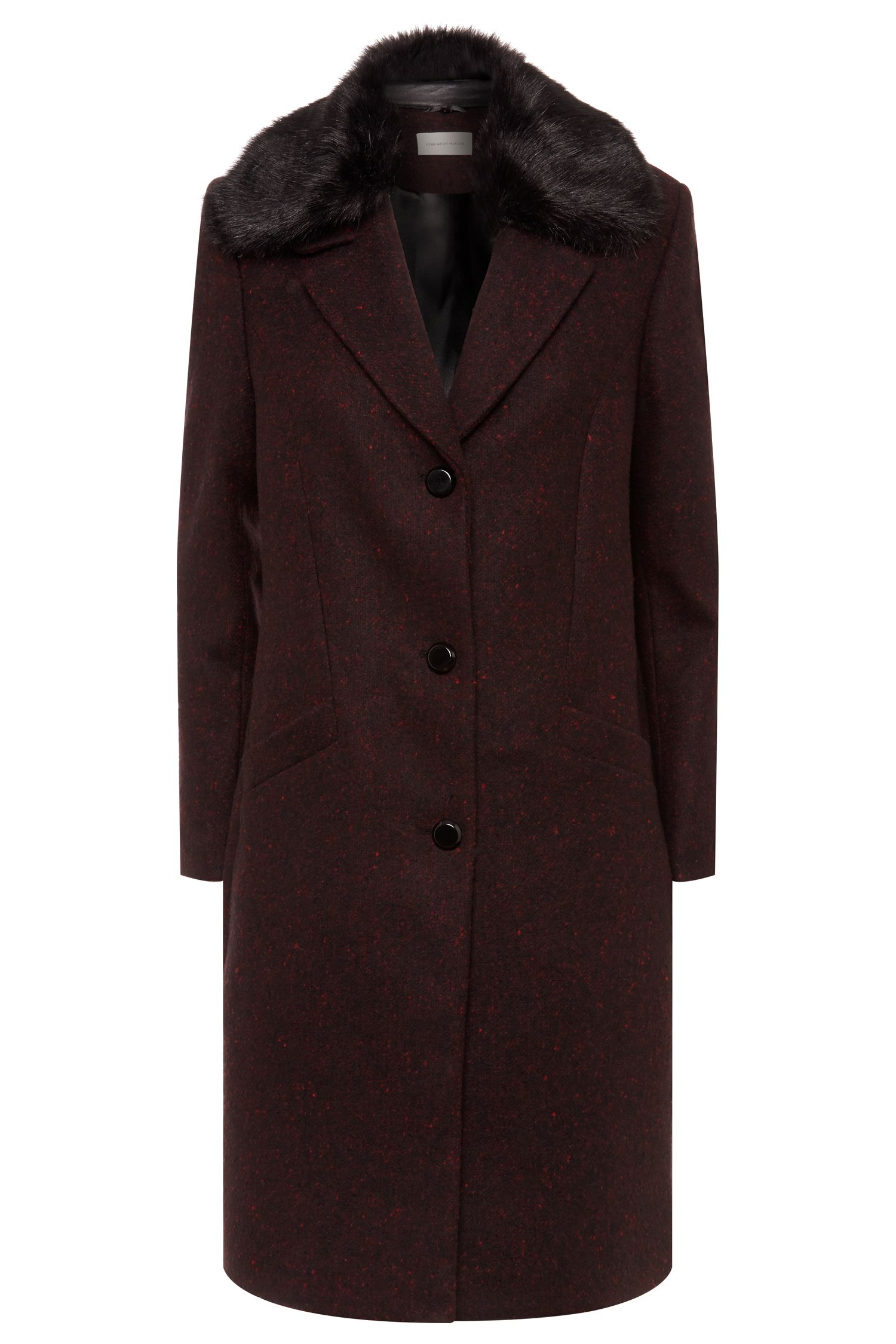 1920s Style Coats Fenn Wright Manson Adorn Coat Red £219.00 AT vintagedancer.com