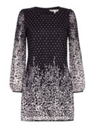 Spotted Floral Lace Shift Dress