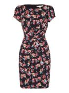 Floral Jersey Dress With Short Sleeves