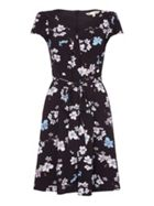 Short Sleeve Dress With Floral Print