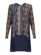 Printed Long Sleeved Tunic Top