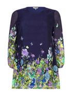 Floral Butterfly Tunic Dress