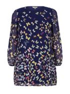 Yumi Curves Butterfly Print Tunic Dress