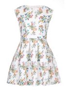 Floral Butterfly Skater Dress