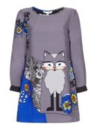 Floral Wolf Tunic Dress