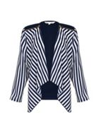 Stripe Print Zip Jacket