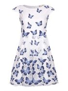 Butterfly Print Cap Sleeve Dress