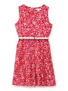 Ditsy Floral Print Sleeveless Dress