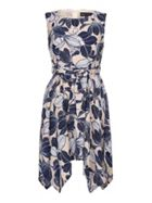 Mela London Floral Print Asymmetric Hem Dress