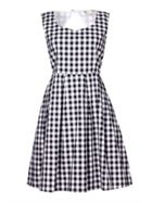 Yumi Check Belted Skater Dress