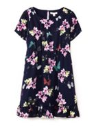 Flower & Butterfly Print Dress