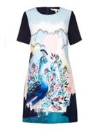Abstract Peacock Tunicdress