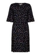 Spot Dress With Ruched Side