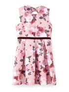 Rose Print Jacquard Dress