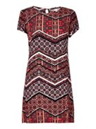 Yumi Geo Print Tunic Dress