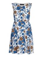 Mela London Blue and White Floral Print Dress