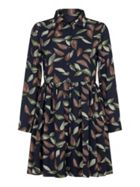 Mela London Leaf Printed Shirt Dress