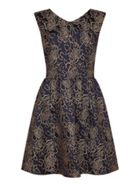 Mela London Rose Print Fit And Flare Dress