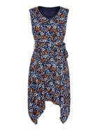 Mela London Floral Asymmetric Dress