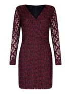 Mela London Flower Lace Wrap Bodycon Dress