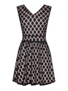 Mela London Textured Polka Dot Dress