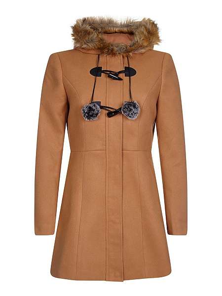 Yumi Duffle Coat With Pompoms - House of Fraser