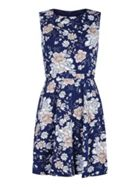Mela London Tie Waist Floral Print Dress