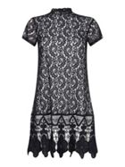 Mela London High Neck Scalloped Lace Dress