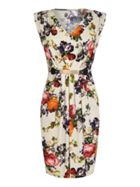 Mela London Floral Print Belted Dress