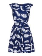 Mela London Feather Print Lace Dress
