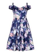 Mela London Floral Bardot Prom Dress