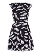 Mela London Feather Pattern Dress