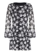 Mela London Printed Long Sleeve Bodycon Dress