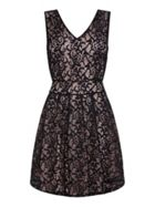 Mela London Lace Overlay Tie Back Dress