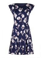 Mela London Floral Print V-Neck Dress
