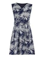 Mela London Leaf Print Skater Dress