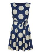 Mela London Large Spot Skater Dress