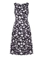 Mela London Flower Print Skater Dress