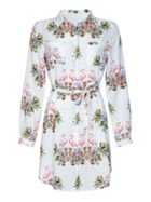 Mela London Tropical Flamingo Shirt Dress