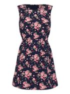 Mela London Sleeveless Rose Print Skater Dress