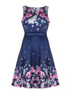 Mela London Mirrored Floral Prom Dress
