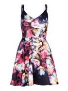 Mela London Flower Print Scuba Dress
