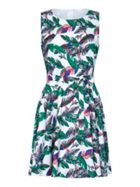 Mela London Tropical Leaf Skater Dress